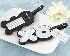 hugs kisses from mr mrs love filled xo luggage tag wedding favors