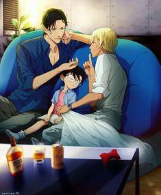 Akai X Amuro - Detective Conan Doujinshi Chap 0 Trang 54 Detective Conan Shinichi, Gosho Aoyama, Kaito Kid, Amuro Tooru, Kudo Shinichi, Human Drawing, Magic Kaito, Yandere, Doujinshi