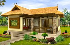 Filipino house design pictures photos of small beautiful and cute bungalow house design ideal for filipino . Simple Bungalow House Designs, Bungalow Haus Design, Small Bungalow, Modern Bungalow House, Simple House Design, Bungalow House Plans, Cottage Design, Modern House Plans, Modern House Design