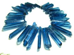 1/2 strandBlue Mystic Quartz Natural Shape Sticks 7 by Beadsgems, $19.95