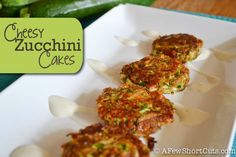 Cheesy Zucchini Cakes: Use Ezekiel bread for the bread crumbs.