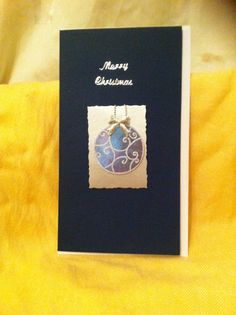 Blue bauble on blue