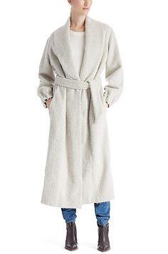 'Ogrobini' | Wool Alpaca Blend Belted Long Coat