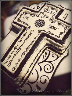 Chocolate cake with Italian buttercream! First Communion Party, Communion Cakes, Italian Buttercream, Buttercream Cake, Cup Cakes, Cupcake Cakes, Christian Cakes, Cross Cakes, Religious Cakes