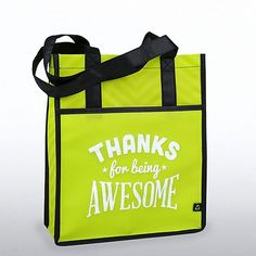 Chevron Shopper Tote: Thanks for Being Awesome