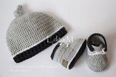 Crochet bebé botitas de bebé sistema del por EditaMHANDMADE en Etsy