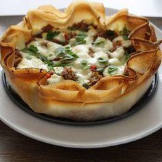 Tarte craquante poivrons, thon et mozzarella Pizza Cake, 20 Min, Bruschetta, Street Food, Food Pictures, Vegetable Pizza, Entrees, Mozzarella, Brunch
