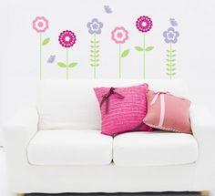 Adesivo Decorativo Infantil -  Flores