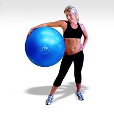 DuraBall PRO Exercise Ball: 65cm. In silver or purple.