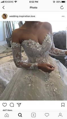 This is sooo beautiful! Not my thing tho Dream Wedding Dresses, Designer Wedding Dresses, Bridal Dresses, Wedding Gowns, Wedding Bells, Wedding Bride, Wedding Collage, Fantasy Wedding, Bridal Collection