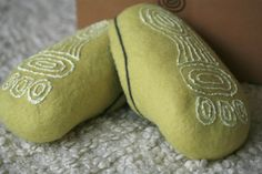 These slippers are made to order. Hand made. Wool 100%.  Made using hot water and organic soap.Your feet will be warm on a cold day and cool on a hot day.  Soles are covered with natural latex what makes wool slippers safe to walk around the house (not slippery).  Any questions feel free to ask