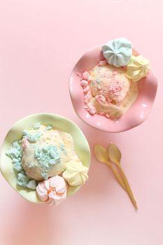Crush meringue into