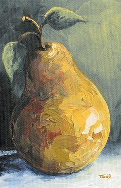 Pear Art Print featuring the painting The Pear Chronicles 014 by Torrie Smiley Canvas Art, Canvas Prints, Art Prints, Painting Canvas, Painting & Drawing, Watercolor Paintings, Fruit Painting, Paintings Of Fruit, Contemporary Abstract Art