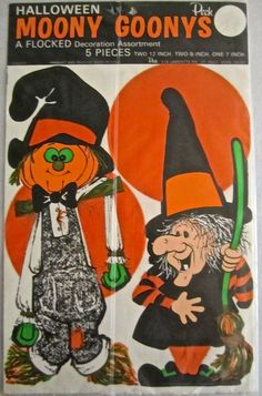 Vintage Peck halloween die cut decorations from the Halloween Cut Outs, Halloween Pictures, Halloween Art, Vintage Toys, Retro Vintage, Vintage Halloween Decorations, Halloween Illustration, Old School, Old Things