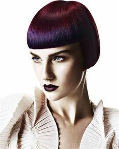 bob purple hairstyle