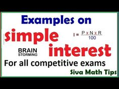 Examples on simple interest calculation |Diff. types of sums on simple i...