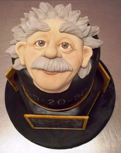 """Q: """"A table, a chair, a bowl of fruit & a violin; what else does a man need to be happy?"""" -Einstein A: CAKE! —."""
