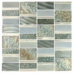 Imperial Random Sized Glass and Aluminum Mosaic Tile in Silver Sea | Wayfair