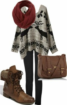 Perfect outfit for winter ♡ I love it