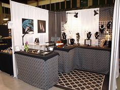 lights on corner craft show booth indoor - Google Search