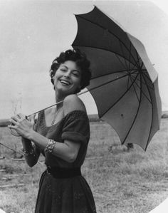 Ava Gardner & Her Umbrella