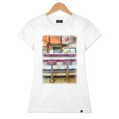 Discover «Classic American Diner Interior», Numbered Edition Women's Classic T-Shirt by Edward Fielding - From $25 - Curioos