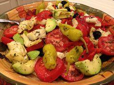 Antipasto Salad - spectacular salad to die for! #salad #gluten free #Greek salad #main dish #salad dressing
