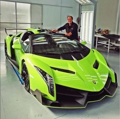 What the fuck # just look at it......man # a neon green Lamborghini veneno roadster