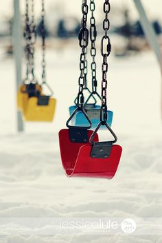 Something about this swing set shot!...the colorfulness, the composition,...the FUN!