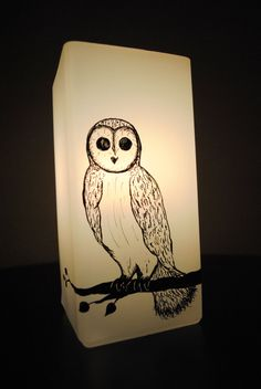 Owl Silhouette Lamp by NatureAura on Etsy, $30.00