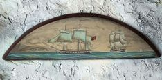 Seascape Painting on old wood