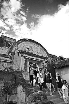 people walking in Yogyakarta