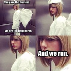 How about we just replace at least one word in every song on 1989 with pegacorn? Why not?
