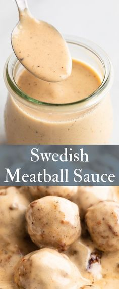 Meatball Sauce This rich and creamy Swedish meatball sauce recipe is one you must add to your repertoire.This rich and creamy Swedish meatball sauce recipe is one you must add to your repertoire. Swedish Meatball Sauce Recipe, Swedish Meatball Gravy, Swedish Meatballs Sauce, Sauce Recipes, Beef Recipes, Cooking Recipes, Recipies, Salsa Alfredo Receta, Meatballs And Gravy