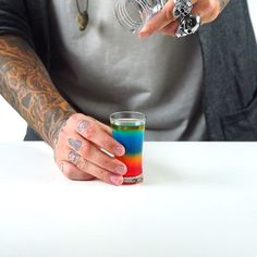 Live Life on the Edge with These Super Cool Flaming Rainbow Shots!