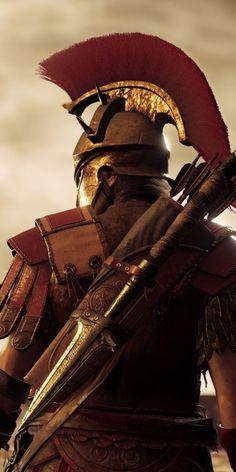 Sketch from Sony Asesins Creed, All Assassin's Creed, Assassins Creed Art, Assassins Creed Odyssey, Guerrero Tattoo, Spartan Tattoo, Ancient Armor, Roman Warriors, Greek Warrior