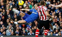 Chelsea cheered as Fernando Torres helps lift Stamford Bridge 'stigma' Chelsea Football, Chelsea Fc, Basketball Court, Soccer, Tally Ho, Stamford Bridge, Sports Graphics, Go Blue, Sunderland