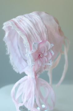 Hey, I found this really awesome Etsy listing at https://www.etsy.com/listing/194144482/newborn-silk-bonnet-baby-pink-silk