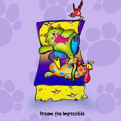 Sweet Dreams and Rainbow Daze...cartoon by Debby Carman  www.whimshots.com  www.fauxpawproductions.com