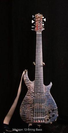 Led Zeppelin Bassist John Paul Jones, Manson 12 string bass