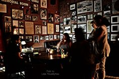 Patrons during an overnight lock down event in the Gable/Lombard Memorial room, Pioneer Saloon Goodsprings, NV.