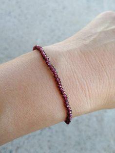 Garnet Jewelry, Amethyst Bracelet, Dainty Bracelets, Beaded Bracelets, Anklets, Nice Jewelry, Special Person, Red Garnet, Beads