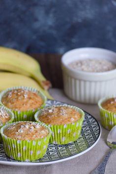 Muffins de avena y plátano - La magdalena rosa