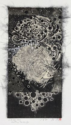 Takahiko Hayashi ~ D-20, Emitting the Winds, 2011 (pen drawing, collage on original print)
