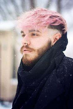 Ideas for hair pink men Hair And Beard Styles, Curly Hair Styles, New Hair, Your Hair, Dyed Hair Men, Mens Hair Colour, Hair Colors, Pastel Pink Hair, Temporary Hair Color