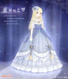 Anime Girl Dress, Anime Girl Cute, Anime Art Girl, Nikki Love, Dress Drawing, Anime Princess, Princess Outfits, Kawaii Girl, Fantasy Girl