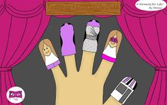 Kat Rose Fashion Free Time: Para a Mãe - Teatro de Fantoches de Dedo