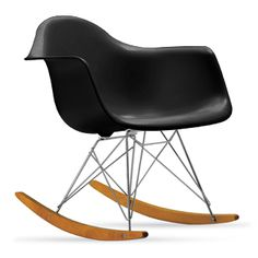 This classic Eames rocker in black was the inspiration for my mountain weekend home's design scheme.