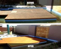 If you have grease stains on your deck simple household washing up liquid will remove it. It will take a bit of scrubbing though! Link: http://timberdeckrestorations.com.au/