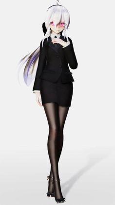 [upgrade] uniform haku by joexyyin on DeviantArt Model Outfits, Teen Fashion Outfits, Anime Outfits, Fashion Art, Anime Girl Neko, Anime Girl Cute, Beautiful Anime Girl, Anime Girls, Haku Vocaloid